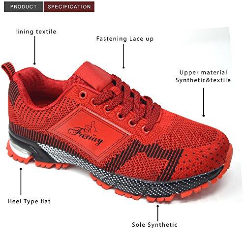 Fitness Running Rose Chaussures Chocs Sport Blanc Noir 3 Xelay De Rouge Absorbant Femmes Baskets Gym Les 8 Taille Dames Violet xYAnS7qP