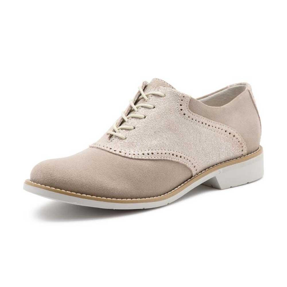 4258634da85e6 GH Bass & Co. 7122295 Women's Dora Saddle Shoe, Soft Grey/Silver - 8.5 M