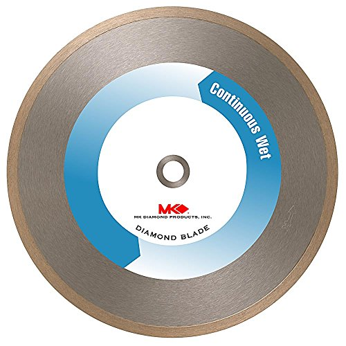 MK Diamond 131631 MK-215 Supreme 8-Inch Wet Continuous Tile and Marble Blade with 5/8-Inch Arbor