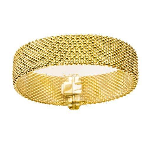 10 Mm milanese les bracelets bracelet en or jaune 585 19 cm-femme