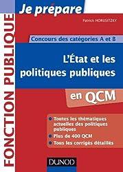 L'Etat et les politiques publiques en QCM - Concours des catégories A et B