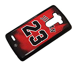 1888998141429 [Global Case] EE.UU. Michael Jordan 23 MVP Deporte Baloncesto Clásico Campeón Jugador Jersey Toro NBA América Legado (TRANSPARENTE FUNDA) Carcasa Protectora Cover Case Absorción Dura Suave para LG G3