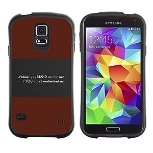 Suave TPU GEL Carcasa Funda Silicona Blando Estuche Caso de protección (para) Samsung Galaxy S5 / CECELL Phone case / / Understand Me Deep Message /