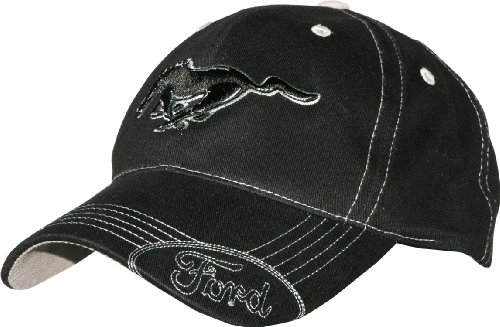 ford-mustang-black-hat-with-silver-stitching