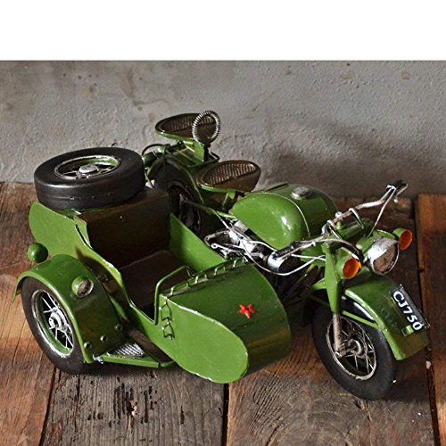 SED Decorations-American villagethe Sidecar Motorcycle Model Display Decoration,A