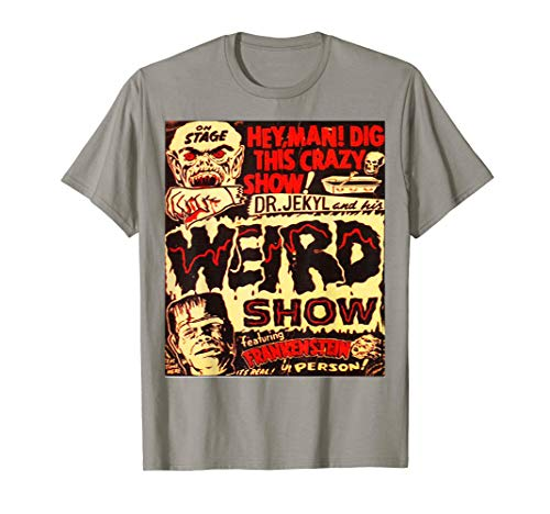Halloween Frankenstein Dr. Jekyll Vintage Poster T- Shirt