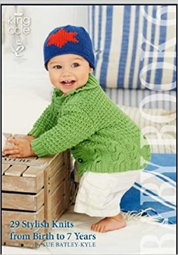 King Cole Knitting Pattern Baby Book 6 29 Stylish Knits From Birth
