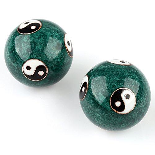 Qi Gong Chinesische Klang Kugeln Yin und Yang rot grün blau je ca. 45 mm Kugel