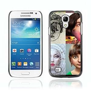 CaseCaptain Carcasa Funda Case - Samsung Galaxy S4 MINI / POP Art Photo /