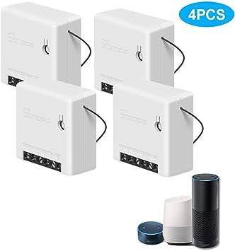Control autom/ático programado Control Remoto inal/ámbrico PeiQila 8 Pcs Sonoff Mini Smart Switch Funciona con IFTTT /…