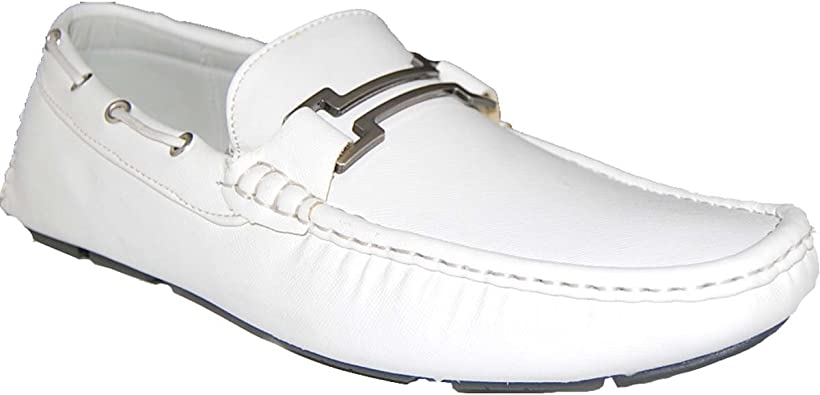 White Driving Loafers