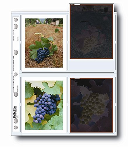 Print File 45-8P Archival Storage Page for 8 4''x5'' Prints Pack of 100 - 060-0622