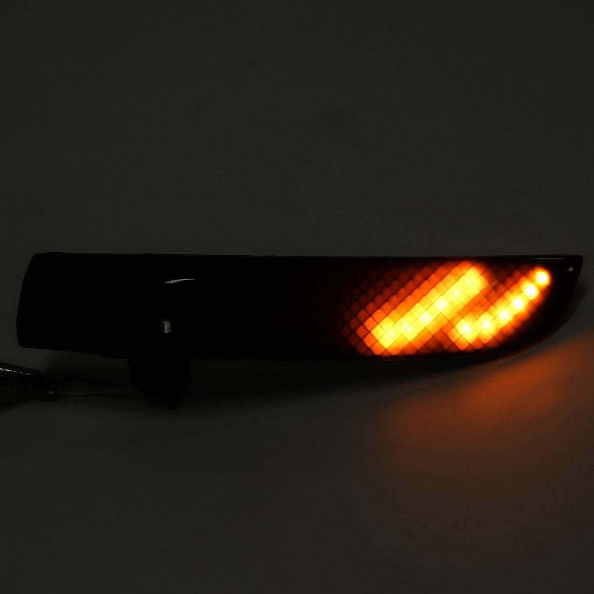 SODIAL Specchietto Retrovisore Auto LED Indicatore di Direzione Dinamico Indicatore Luminoso Retrovisore per Kuga Ecosport 2013-2019