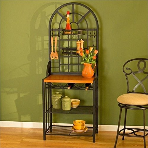 Dome Bakers Rack with Wine Storage ()