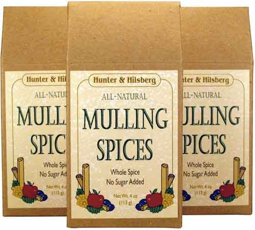 Mulling Spices for Mulled Wine (Gluehwein) or Winter Tea