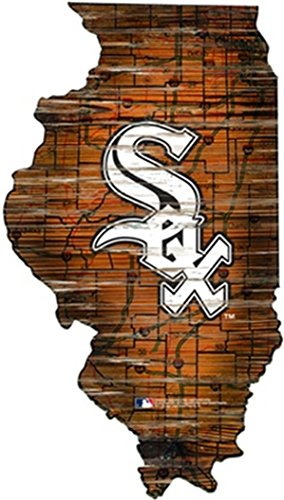 Fan Creations Chicago White Sox Distressed State Sign Wood Logo 24