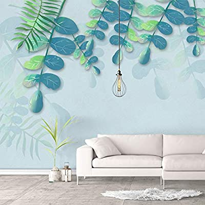 Wall Murals for Bedroom Green Plants Animals Removable Wallpaper Peel and Stick Wall Stickers, That's 100% USA Made, Delightful Piece of Art
