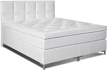 Cama con somier cama 105 x 200 cm color blanco: Amazon.es ...
