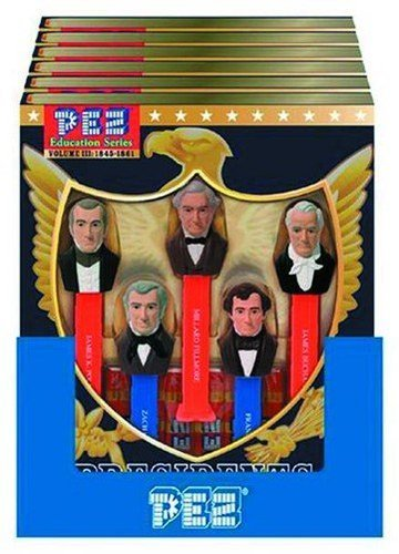 PEZ Presidents / Präsidenten of the Unites States / USA - Education Series Volume III 1845-1861