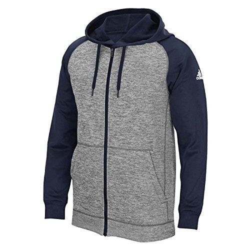 20898fd2 adidas Climawarm Team Issue Mens Full Zip Jacket M Grey Heathered/Navy