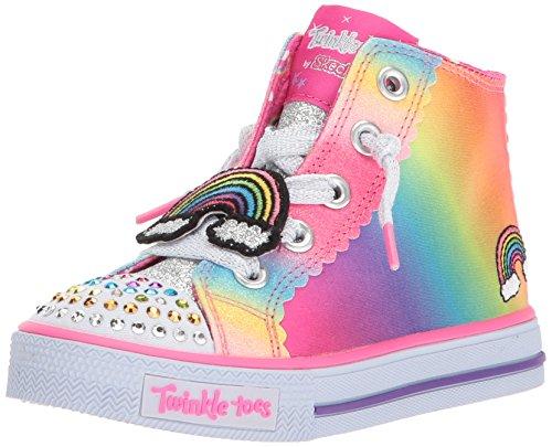Skechers Kids Girls' Shuffles-Patch Party Sneaker,multi,5 Medium US Toddler