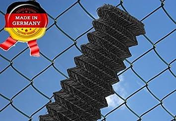 Maschendrahtzaun 60 x 60 mm, 25 ldm 125 cm anthrazit - schwarz ...