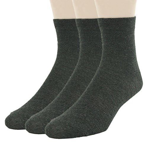 Fasoar Big Boys' 3 Pack Classics Dress Casual Wide Rib Crew Socks (Classic Rib Sock Dress)