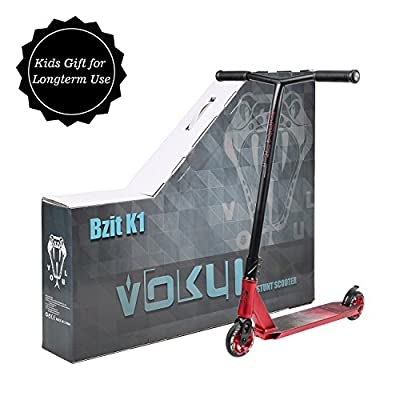 VOKUL K1 Complete Pro Scooter for Kids Boys Girls Teens Adults Up 7 Years - Freestyle Tricks Pro Stunt Scooter with 110mm Metal Wheels - High Performance Gift for Skatepark Street Tricks by Vokul