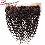 Longqi Beauty Brazilian Deep Wave Frontal Closure 13×4 Ear To Ear Free Part Lace Closure Brazilian Deep Curly Frontal Virgin Human Hair(Frontal 16inch, Natural Color) Review