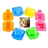 Podoy Boiled Egg Sushi Rice Mold Mould For Kids Sandwich Cutter Moon Cake Decorating Decoration Kitchen Tools -6 Pack