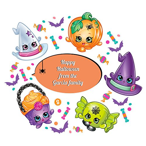Oliver's Labels Shopkins Halloween Wall Decals Peel and