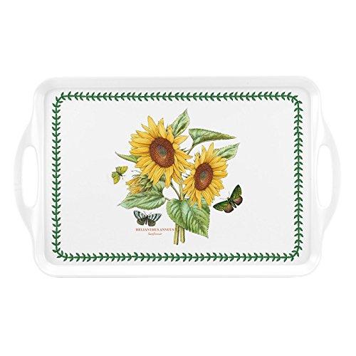 (Botanic Garden Medium Handled Tray - Sunflower Motif)