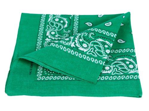 100 Indumento X Sciarpa verde Paisley Bandana cotone 54 Accessorio circa Cm dwW6Cq