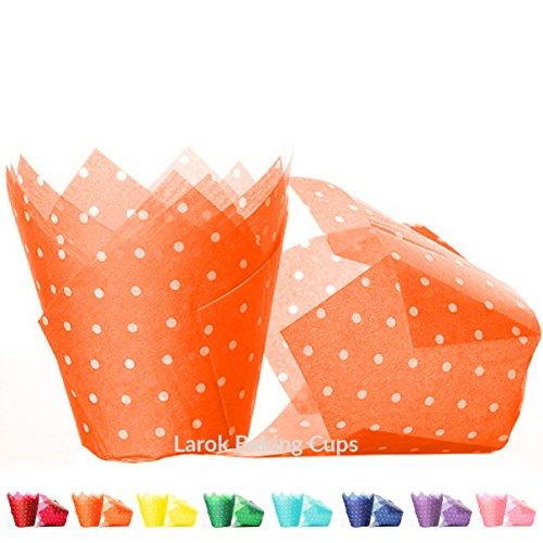 Tulip Cupcake Liners (Polka Mandarin) | 100 count