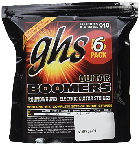 GHS Strings GBL-5 Guitar Boomers, Nickel-Plated Electric Gui