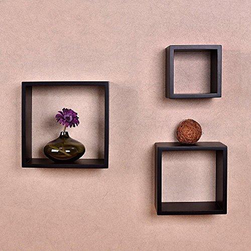 Review Welland Victorian Cube 3-Piece Shelf Set 6inch,8inch and 10inch (Espresso) By Wellpro 1169012522 by Wellpro 1169012522