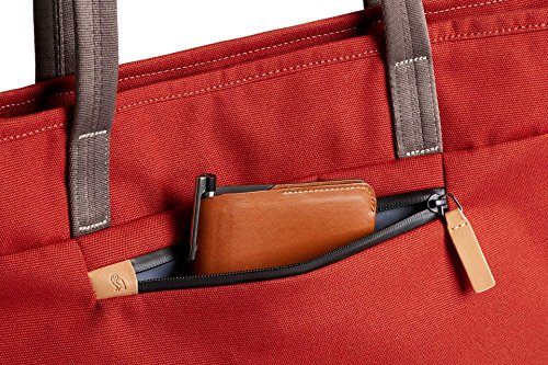 Bellroy Tokyo Tote, Water-Resistant Woven Tote Bag (13'' Laptop, Tablet, Notes, Cables, Drink Bottle, Spare Clothes, Everyday Essentials) Red Ochre by Bellroy (Image #7)