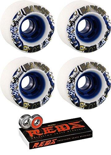 かわいらしい液体ブランド70 mm Venom Harlot Cobra Core Longboard Skateboard Wheels with Bones Bearings – 8 mm Bones Reds Precisionスケート定格スケートボードベアリング – 2アイテムのバンドル