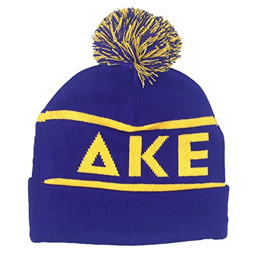 Delta Kappa Epsilon Fraternity Letter Winter Beanie Hat Greek Cold Weather Winter (Team Pride Fleece)