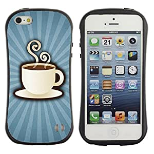 Be-Star Impreso Colorido Diseño Antichoque Caso Del iFace Primera Clase Tpu Carcasa Funda Case Cubierta Par Apple iPhone 5 / iPhone 5S ( Coffee Power )