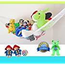 Viva Toy Hammock For Stuffed Animals - Corner Storage Solution For Teddies - Balls - Bedding - Gear - Stretches To A Large 72 x 48 x 48 Inches - Durable Polyester White Net toy organizer - Suits Any Décor - 100% Money Back Guarantee
