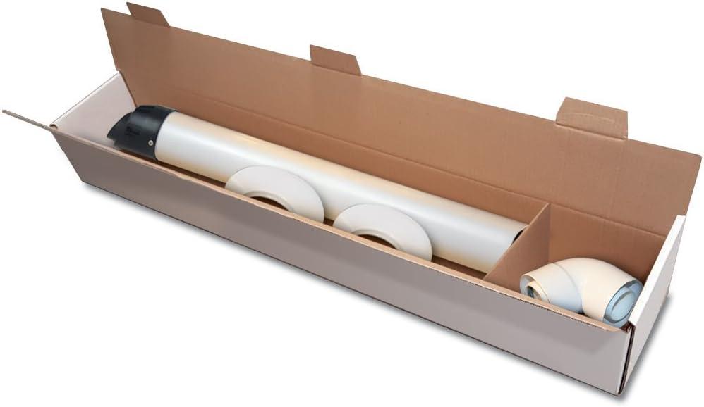 Kit coaxial 003 – Kit Salida Horizontal Para Calderas de condensación Baxi, Arco, Roca, Viessmann: Amazon.es: Bricolaje y herramientas