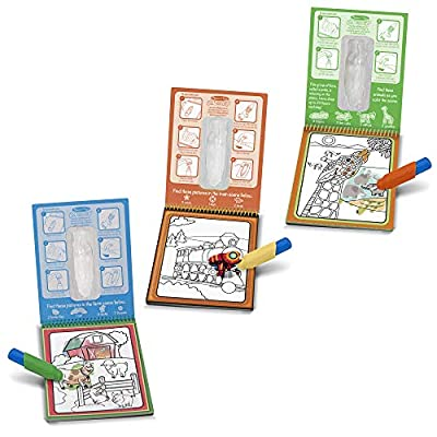 Melissa & Doug On the Go Water Wow; Reusable Water-Reveal Activity Pads, 3-pk, Vehicles, Animals, Safari: Toys & Games