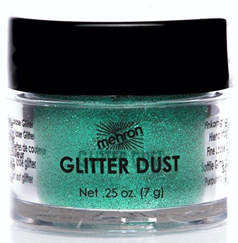 Mehron Glitter - Mehron Makeup GlitterDust Face & Body Paint, SHAMROCK GREEN - .25oz Carded