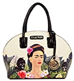 Frida Kahlo Jungle Series Frame Dome Satchel (BLACK)