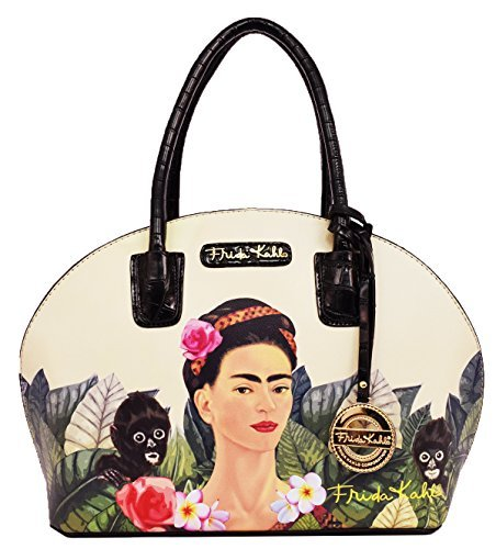 - Frida Kahlo Jungle Series Frame Dome Satchel (BLACK)