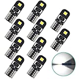 194 LED Bulb, T10 168 2825 W5W LED Bulb,Extremely Bright 2SMD 2835 Chipset LED Bulb for Car Interior Dome Map Door Courtesy License Plate Lights 6000K White(10pcs/pack)
