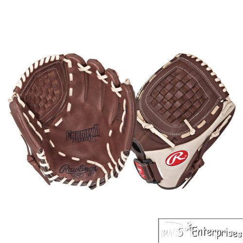 Rawlings Champion Series Infield Pitcher (Dark Brown/Light Tan, Right Hand Throw, 11 (Rawlings Fastpitch Gloves)