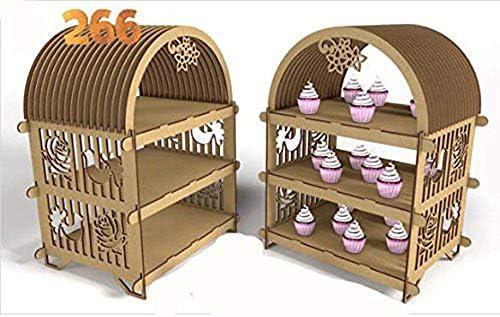 Kit para hacer estantería porta cupcake de madera DM para candy ...
