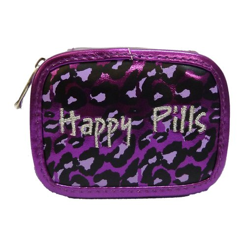 Miamica Case Happy Pills, Purple Leopard, One Size